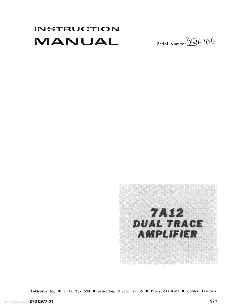 TEKTRONIX T932 T935 Service Manual download, schematics