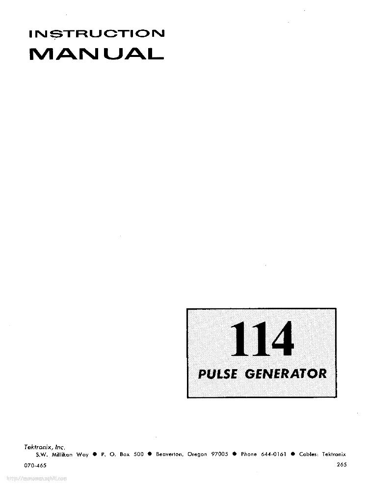 TEKTRONIX 422 R422 Service Manual free download