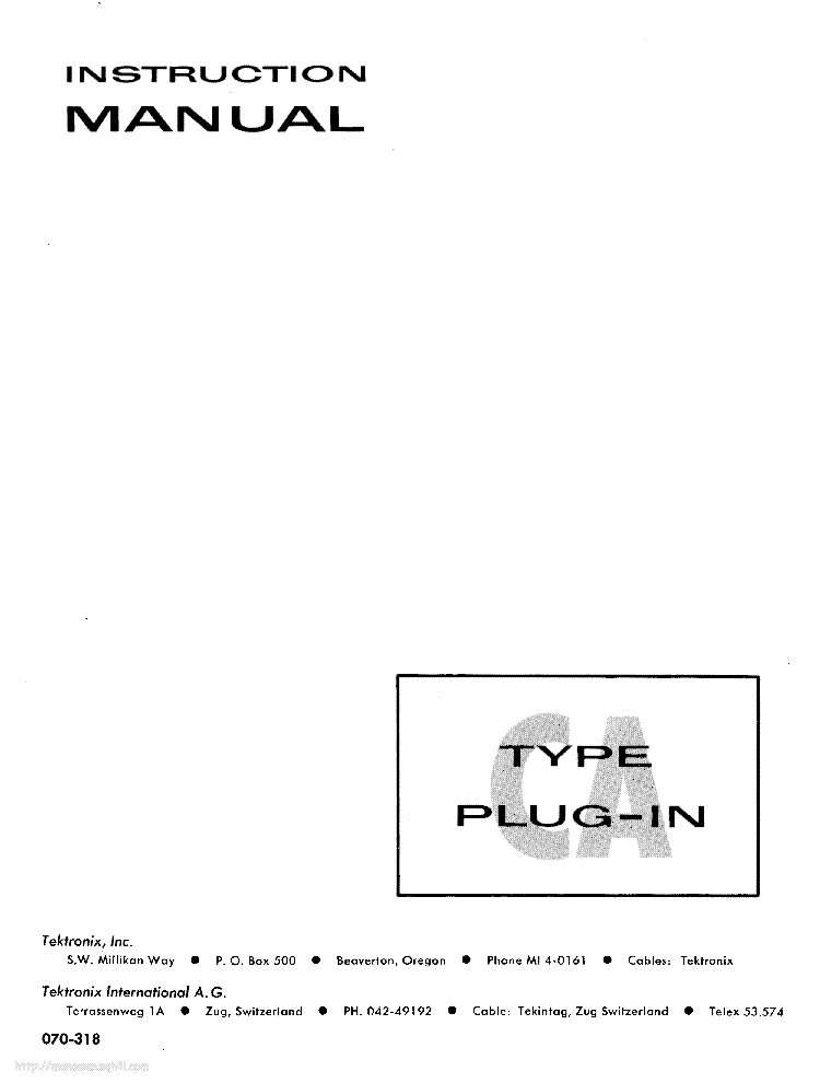 TEKTRONIX TDS420A-430A-460A Service Manual download