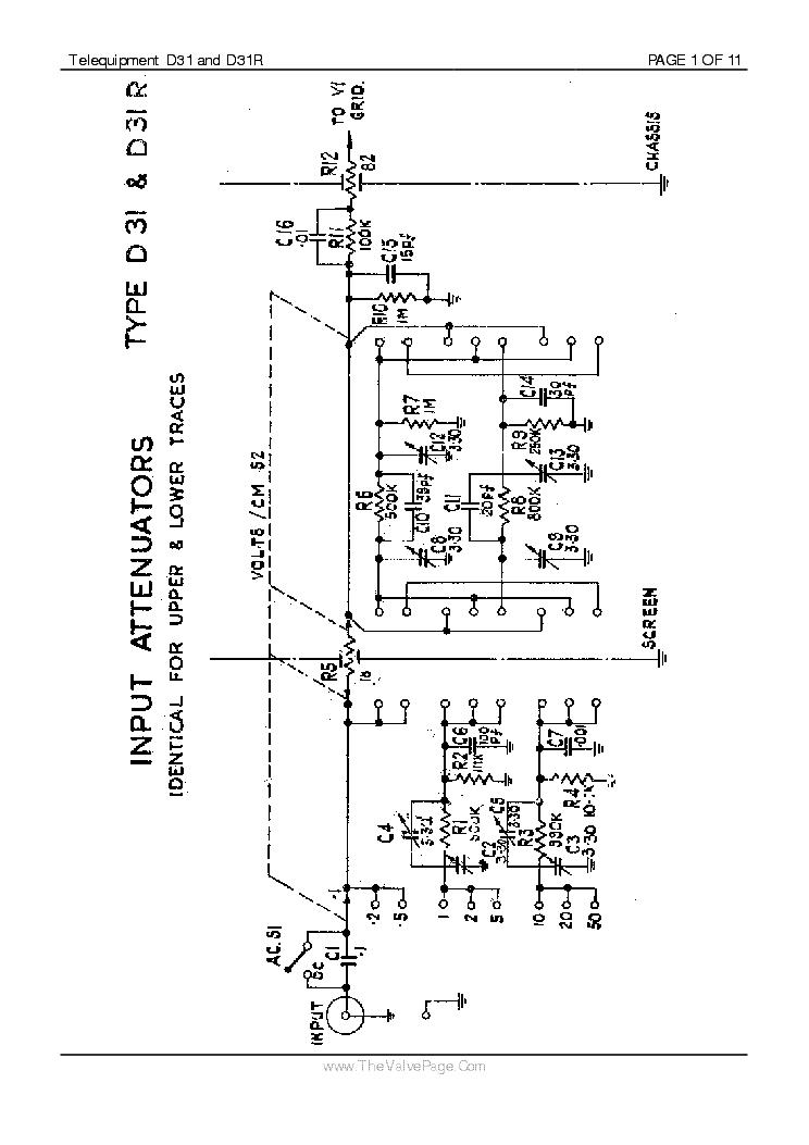 TELEQUIPMENT D31 Service Manual download, schematics
