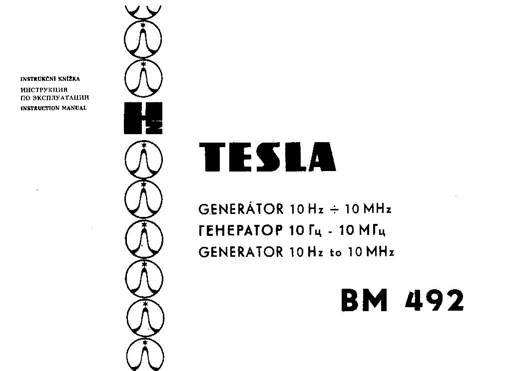 TESLA BM494 MILLIVOLTMERO Service Manual download