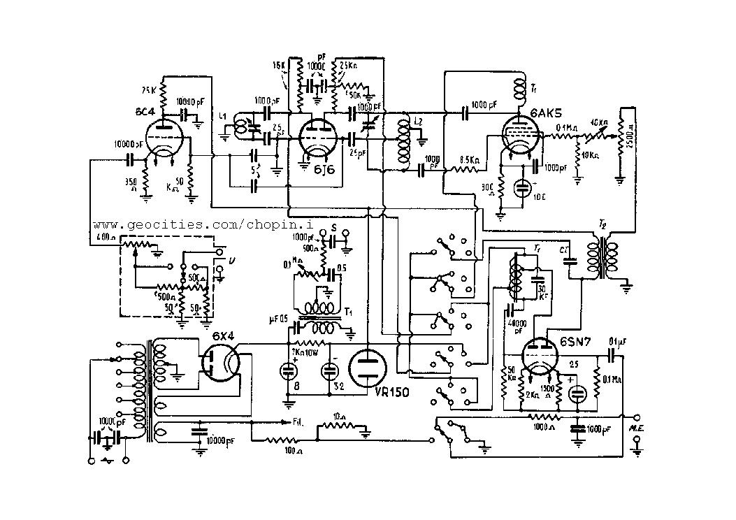 UNAOHM OSCILLOSCOPE G4030 SCH Service Manual download