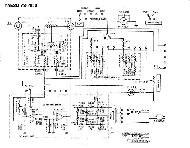 YAESU FP-1030A SM Service Manual download, schematics
