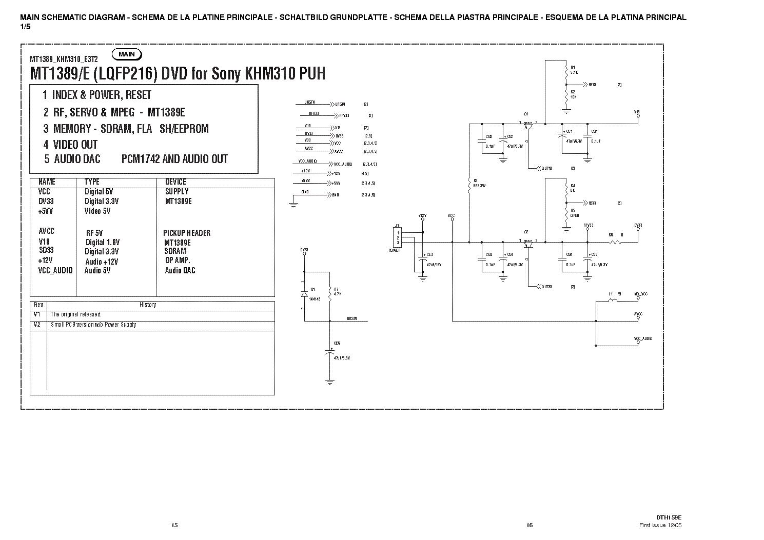 hight resolution of aiwa cdc r307 cdc rv407 service manual 1st page