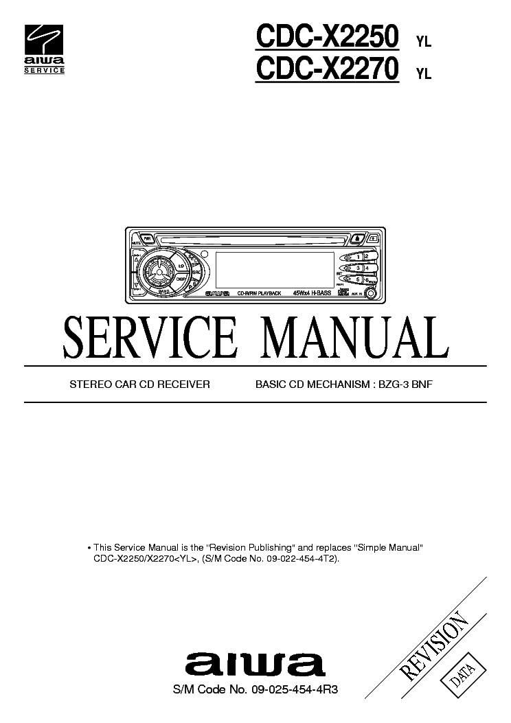 AIWA CDC-X2250 X2270 SM Service Manual download