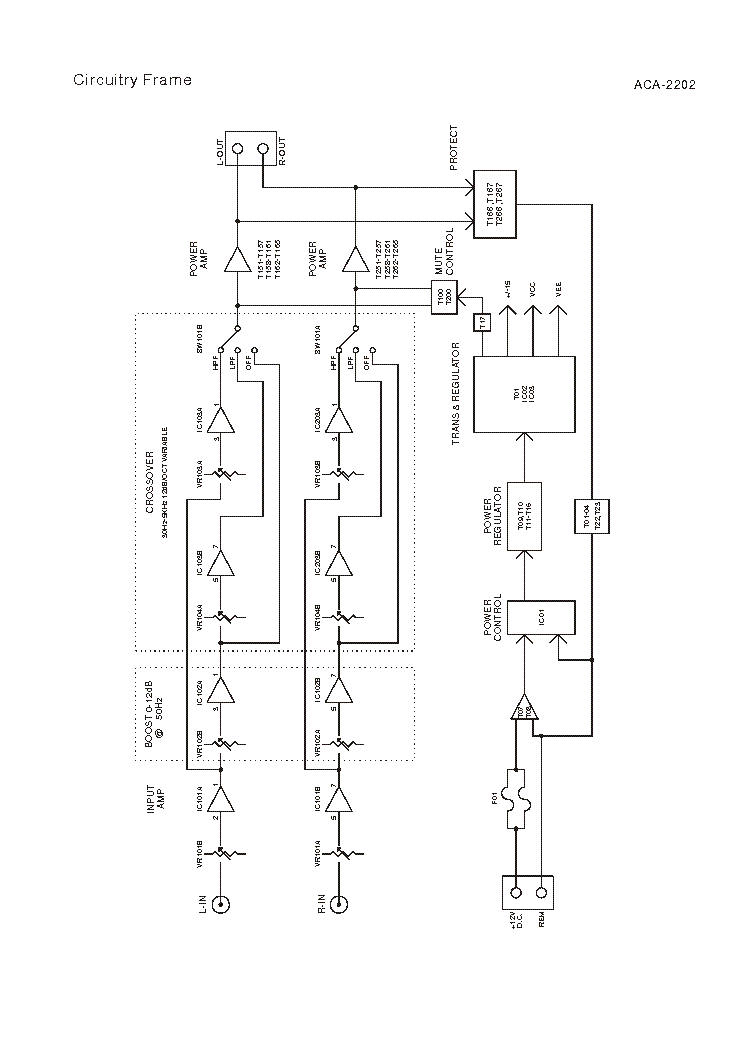 AKAI ACA-2202 Service Manual download, schematics, eeprom