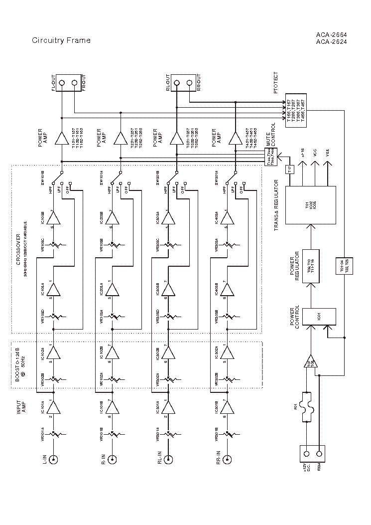 AKAI ACA-2664 Service Manual download, schematics, eeprom