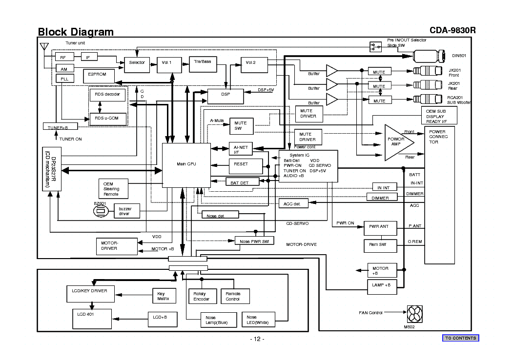 ALPINE CDA-9830R SCH Service Manual download, schematics