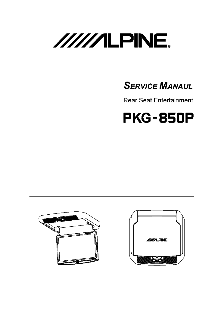 ALPINE MDA7755R SM EN Service Manual free download