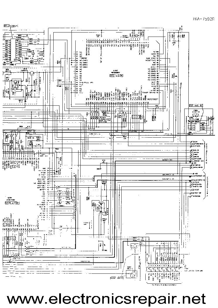 ALPINE TDA7592R Service Manual download, schematics