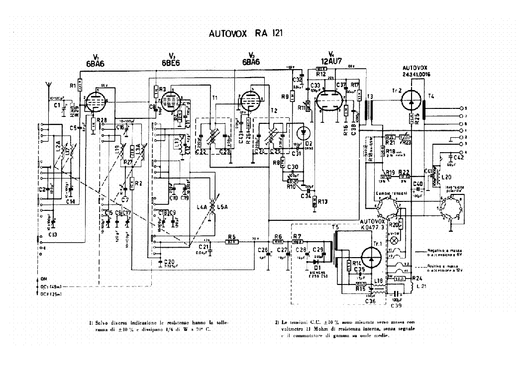 AUTOVOX RA112 CAR AUDIO SCH Service Manual download