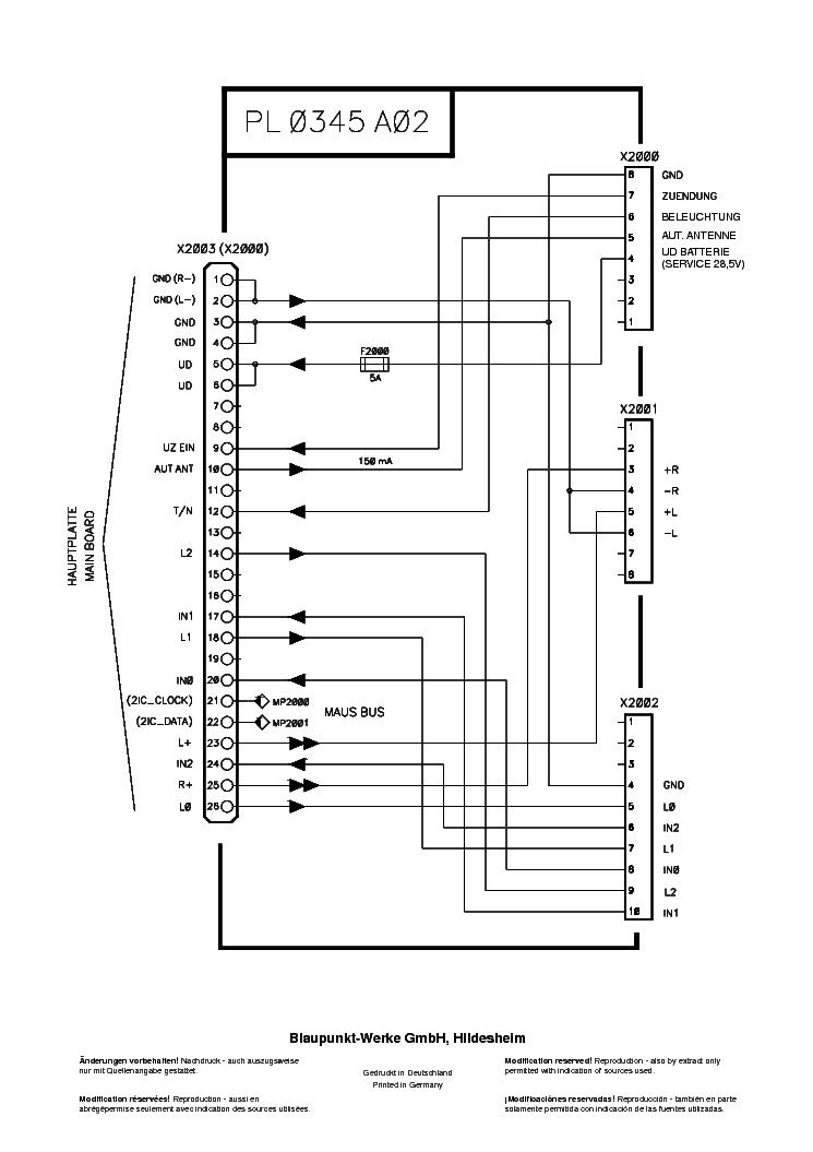 BLAUPUNKT RDS24-VOLVO Service Manual download, schematics
