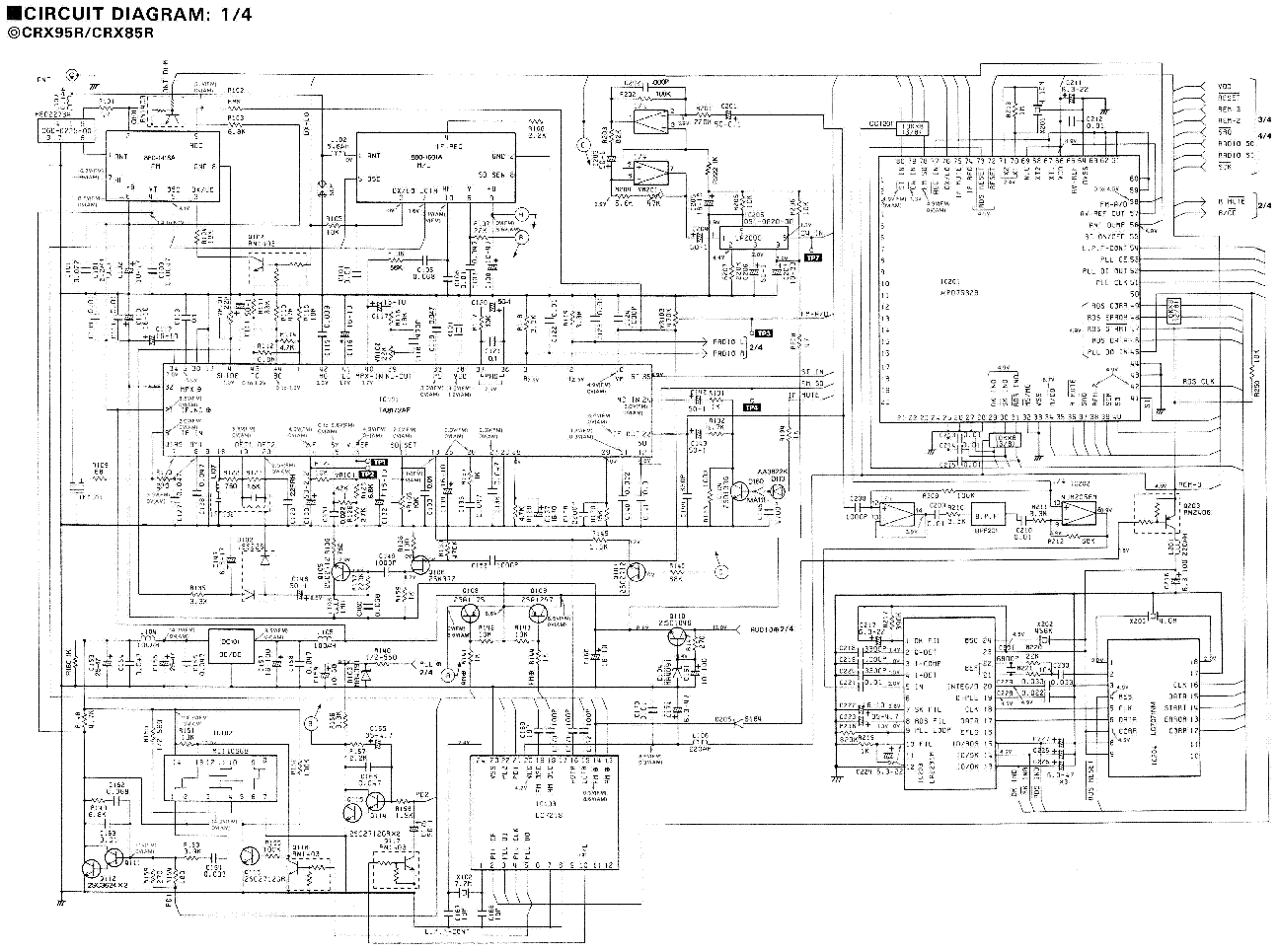 CLARION CRX-95R,CRX85R Service Manual download, schematics