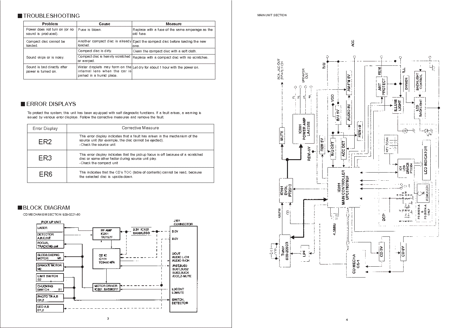 CLARION DB235 335 Service Manual download, schematics