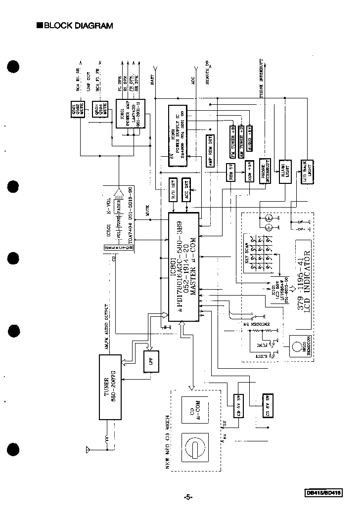 CLARION DB415 BD416 Service Manual download, schematics