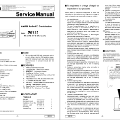 Clarion Dxz375mp Wiring Diagram Roper Dryer Pe2504b Db135 Am Fm Radio Cd Service Manual