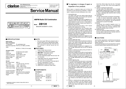 small resolution of clarion wiring diagram free download schematic wiring libraryclarion dxz585usb 586usb service manual download schematics
