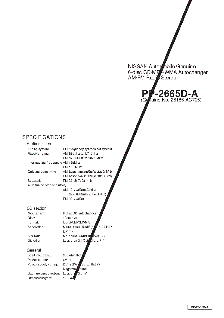 CLARION APA4400G Service Manual download, schematics