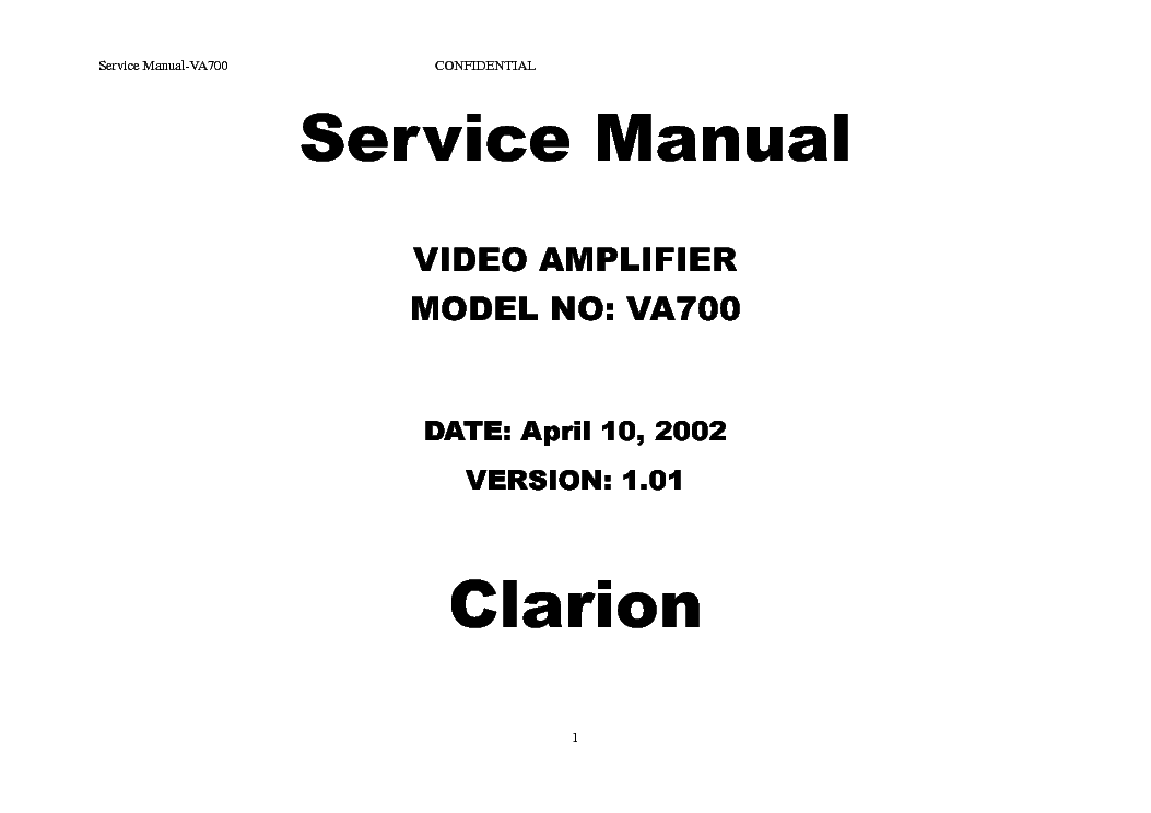 CLARION PU-9203A CAR AUDIO SM Service Manual free download