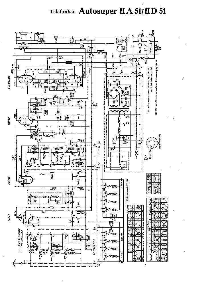 TELEFUNKEN AUTOSUPER IA-51 ID-51 SCH Service Manual