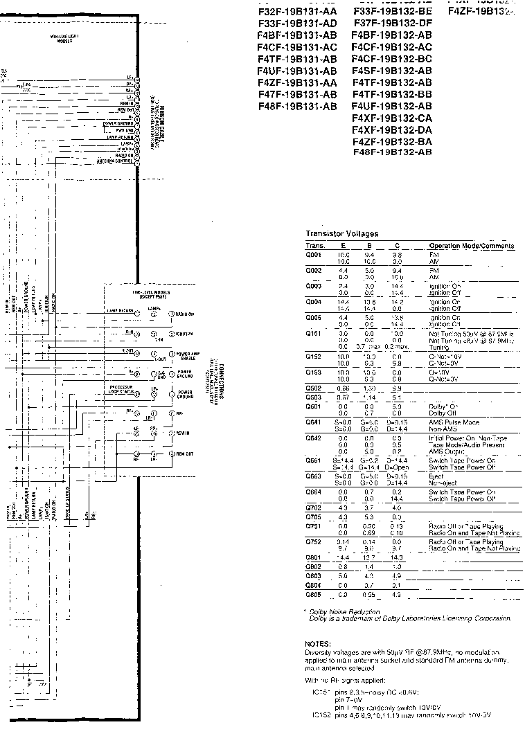 FORD 6000CD SCH Service Manual download, schematics