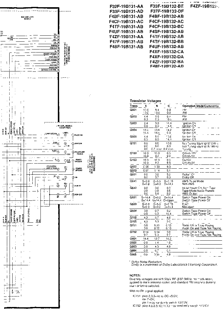 FORD SOUND 2000-2006 Service Manual download, schematics
