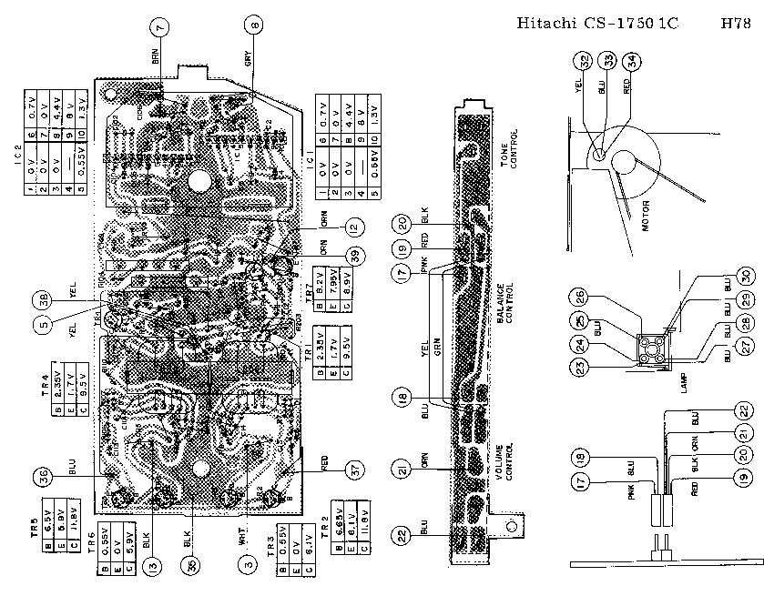 HITACHI CS-1750 8-TRACK-CASSETTE-PLAYER SCH Service Manual