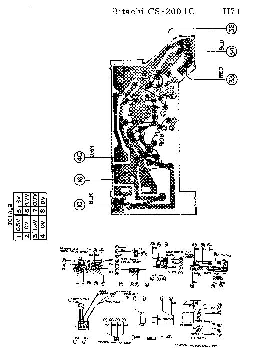 HITACHI CS-200 CAR-CASSETTE-PLAYER SCH Service Manual