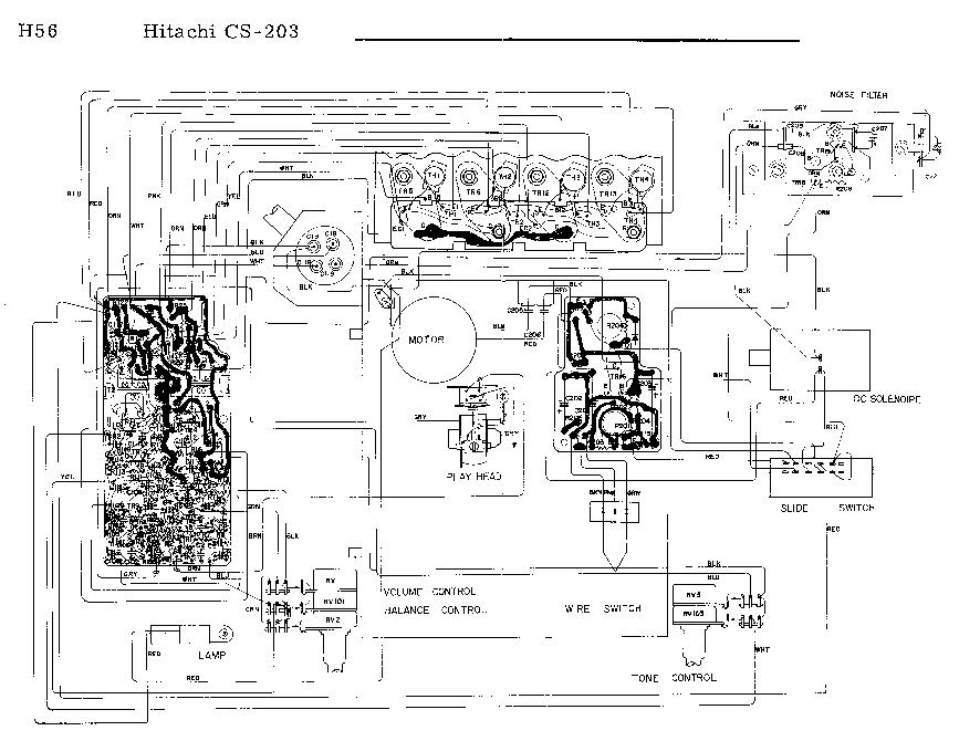HITACHI CS-203 CAR-STEREO-PLAYER SCH Service Manual