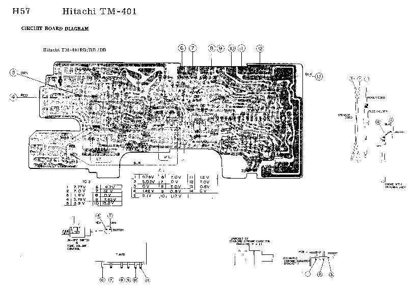 HITACHI TM-401-RB-BB-DB AUTORADIO 976 SCH Service Manual