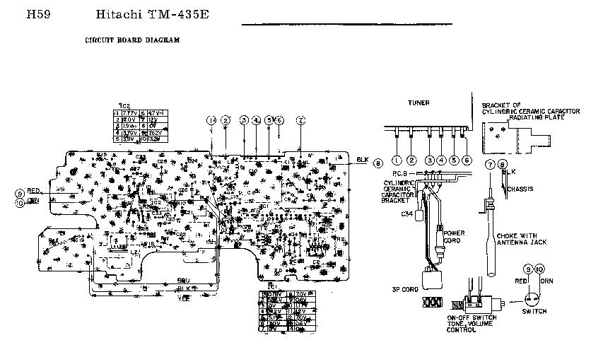 HITACHI TM-435-E AUTORADIO SCH Service Manual download
