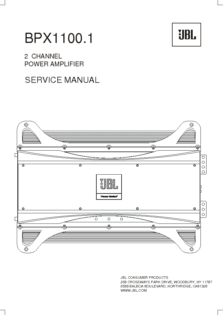 JBL BPX-1100.1 SM Service Manual download, schematics