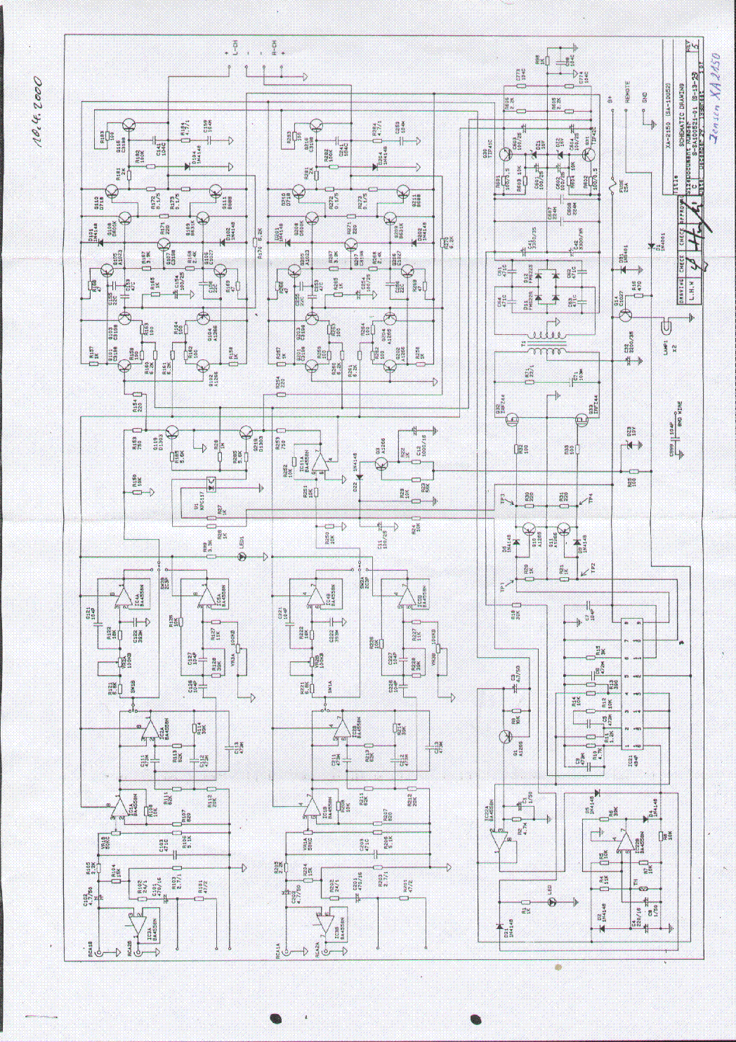 JENSEN XA 2150 SCH Service Manual download, schematics