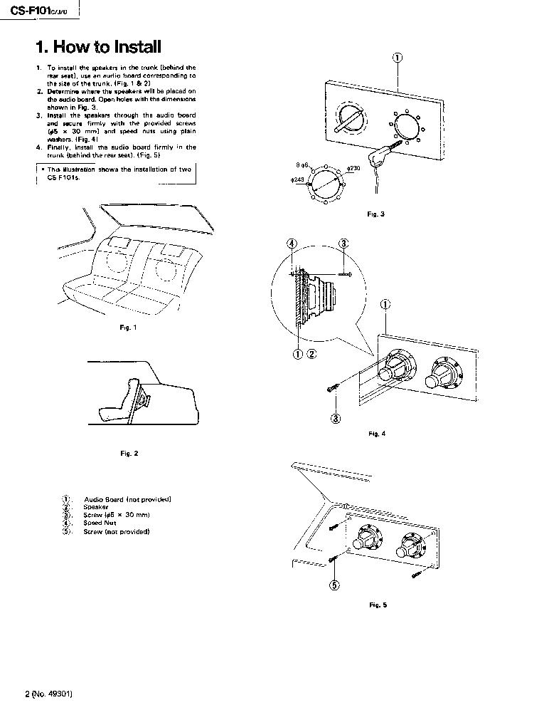 JVC CS-F101 Service Manual download, schematics, eeprom