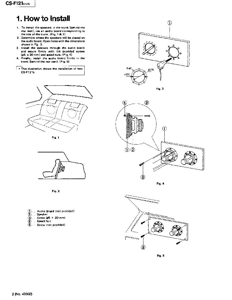 JVC CS-F121 Service Manual download, schematics, eeprom