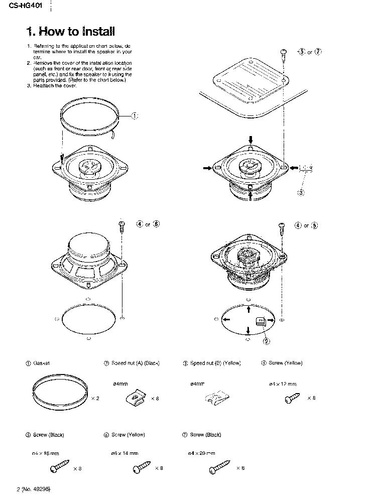 JVC CS-HG401 Service Manual download, schematics, eeprom