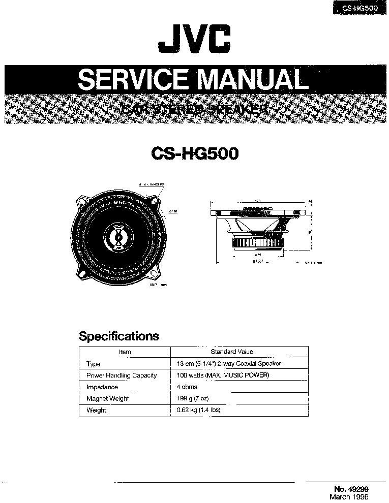 JVC KD-LH7R Service Manual free download, schematics