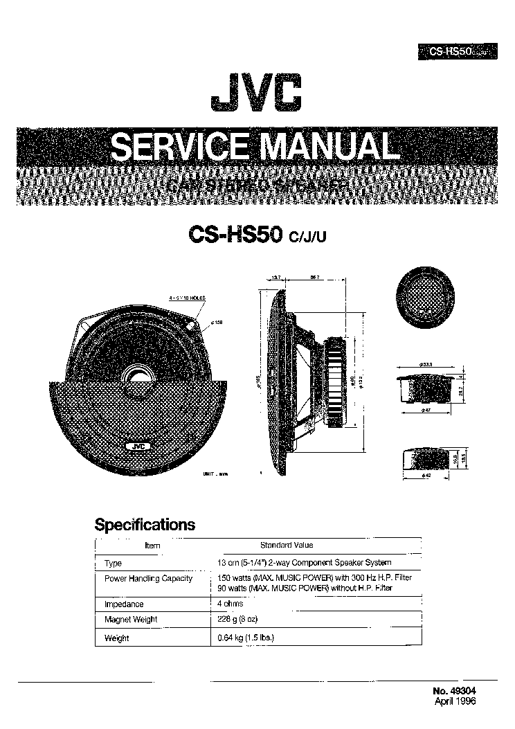 JVC KD-R400 KD-R401 KD-R402 KD-R407 KD-R501 KD-R504 KD
