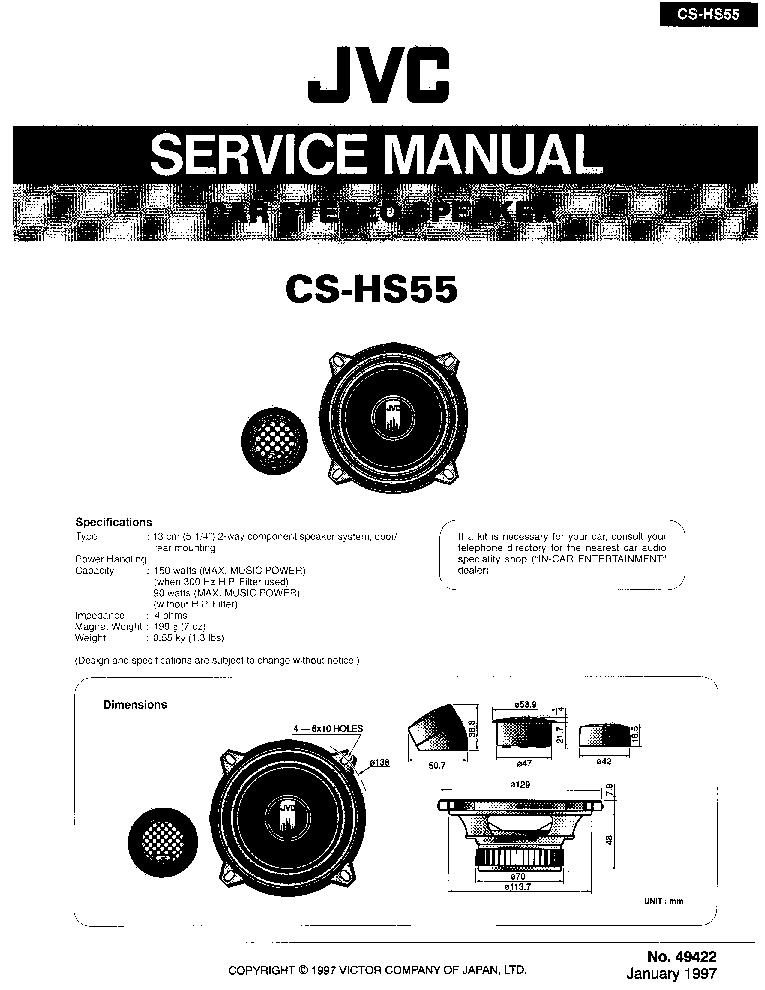 JVC KD-S630 KD-S730 Service Manual free download