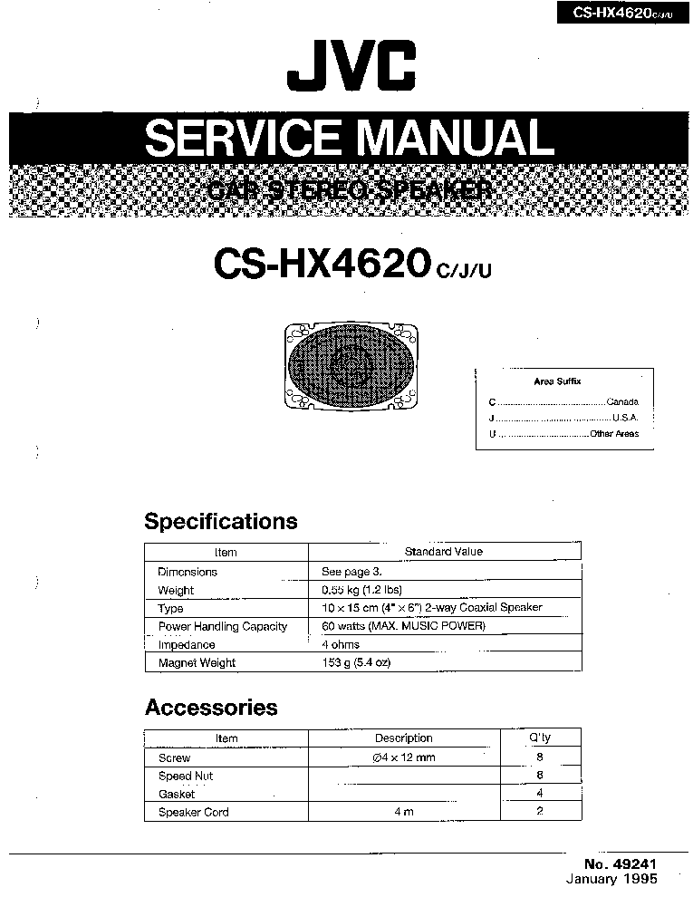 JVC KD-ADV7380 KD-DV7300 DV7301 DV7302 DV7304 DV7305