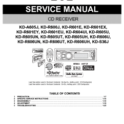 Wiring Diagram For Jvc Car Audio Usb Optical Mouse Kd-a605 R600 R601 R604 R605 R606 S36 Ma442 Sm Service Manual Download, Schematics, Eeprom ...