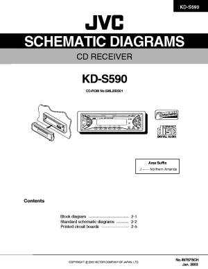 JVC KDS590 SCH Service Manual download, schematics, eeprom, repair info for electronics experts