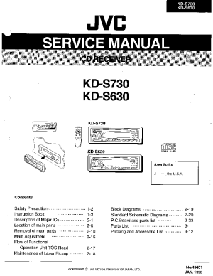 JVC KDS630 KDS730 Service Manual download, schematics, eeprom, repair info for electronics experts