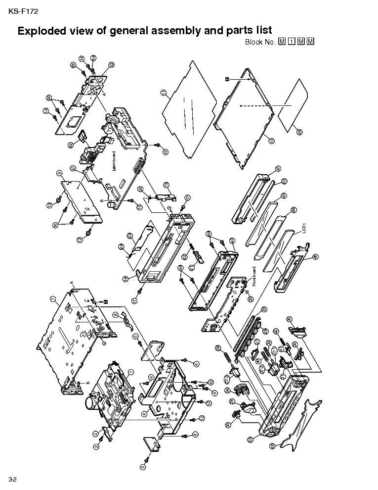JVC KS-F172-2 Service Manual download, schematics, eeprom