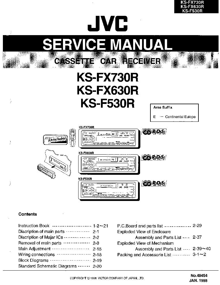 JVC KD-AR770-G720-G721-G722-G724-G725-G727 Service Manual