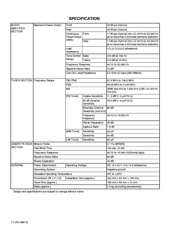 JVC KS-FX845R SM Service Manual download, schematics