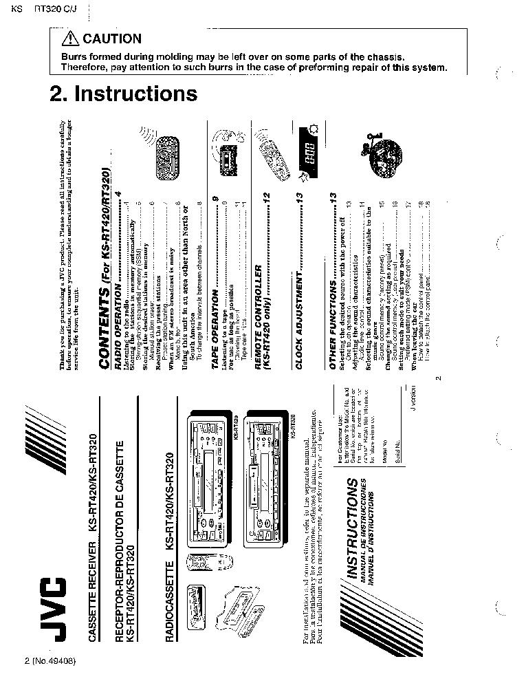 JVC KS-RT320 Service Manual download, schematics, eeprom