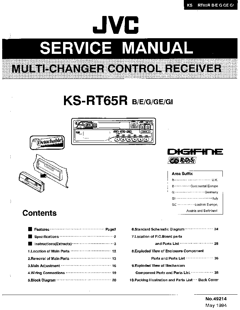 JVC KD-AR3000 KD-LH300-MA042- Service Manual download
