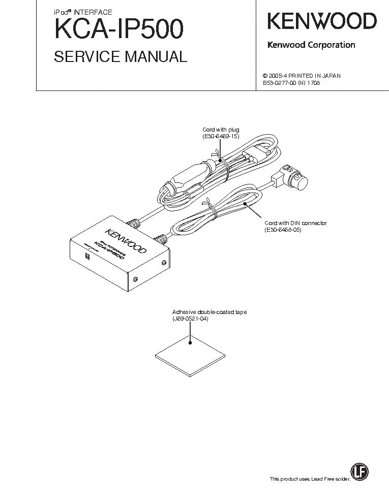 KENWOOD KCA-IP500 Service Manual download, schematics