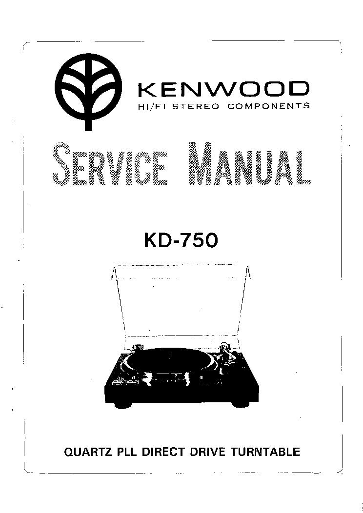 KENWOOD KD-750 TURNTABLE Service Manual download